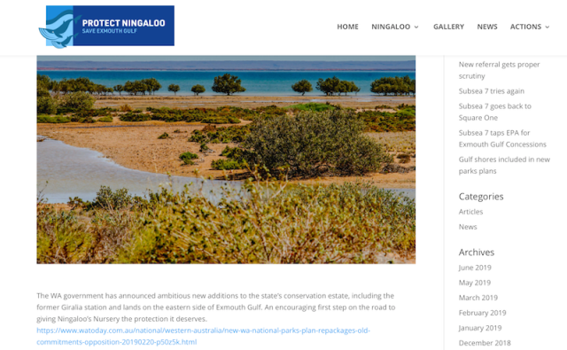 conservation eastof Exmouth Gulf